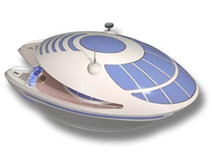 Picture of floating home - Copyright 2005, Underwater Vehicles Inc. All rights reserved. http://www.sub-find.com/trilobis65.htm