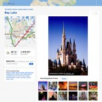 Screenshot of Flickr\'s geo page for Walt Disney World.